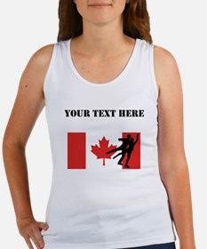 Figure Skaters Canadian Flag Tank Top