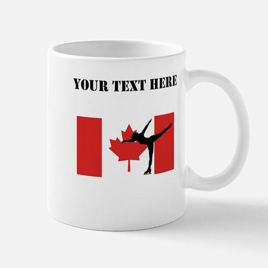 Figure Skater Canadian Flag Mugs