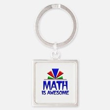 Math is Awesome Square Keychain
