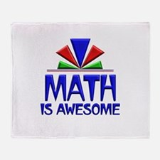Math is Awesome Throw Blanket