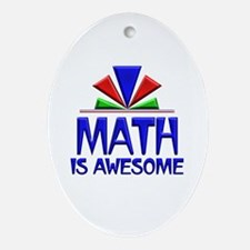 Math is Awesome Ornament (Oval)
