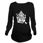Ganesha Dark Long Sleeve Maternity T-Shirt