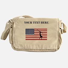 Extreme Skier American Flag Messenger Bag