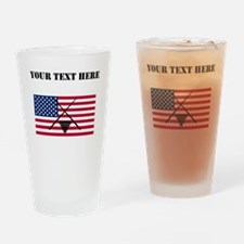 Billiards American Flag Drinking Glass