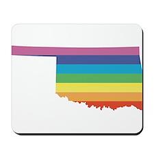 oklahoma rainbow Mousepad