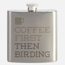 Coffee Then Birding Flask