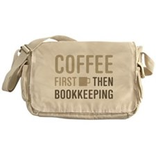 Coffee Then Bookkeeping Messenger Bag