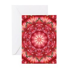 Orange Illusion Greeting Cards