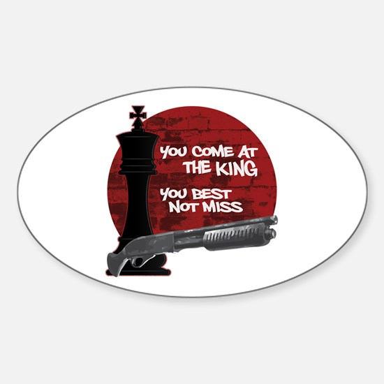 The Wire The King Sticker (Oval)