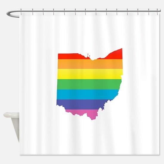 ohio rainbow Shower Curtain