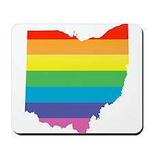 ohio rainbow Mousepad