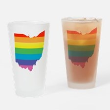 ohio rainbow Drinking Glass