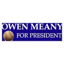 Owen Meany for president Bumper Bumper Sticker