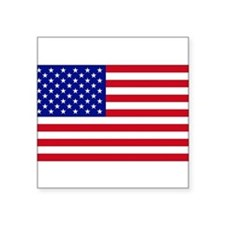 "Cute Usa flag Square Sticker 3"" x 3"""