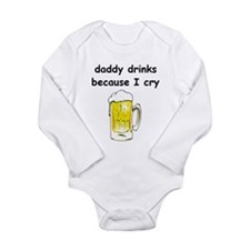 Cool Daddy drinks Long Sleeve Infant Bodysuit