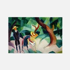 August Macke - Children with Goat Rectangle Magnet
