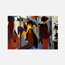 August Macke - Fashion Shop Rectangle Magnet