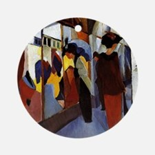 August Macke - Fashion Shop Round Ornament