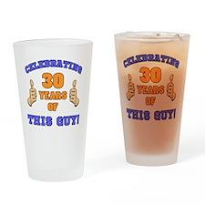Celebrating 30th Birthday For Men Drinking Glass