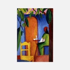 August Macke - Turkish Cafe II Rectangle Magnet