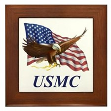 UNITED STATES MARINE CORPS Framed Tile