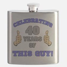 Celebrating 40th Birthday For Men Flask