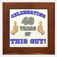 Celebrating 40th Birthday For Men Framed Tile