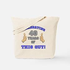 Celebrating 40th Birthday For Men Tote Bag