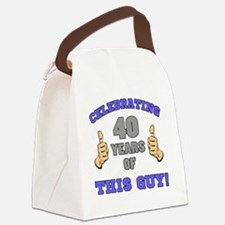 Celebrating 40th Birthday For Men Canvas Lunch Bag