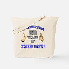 Celebrating 50th Birthday For Men Tote Bag