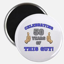 Celebrating 50th Birthday For Men Magnet
