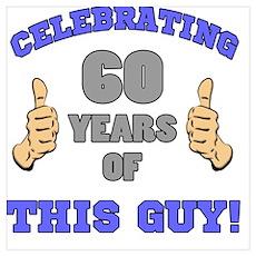 Celebrating 60th Birthday For Men Poster