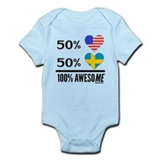 Half American Half Swedish Body Suit