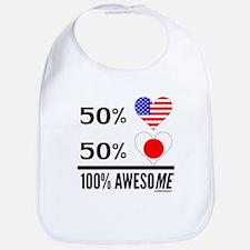 Half American Half Japanese Bib