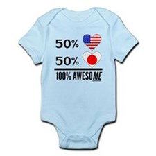 Half American Half Japanese Body Suit