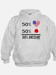 Half American Half Japanese Hoodie