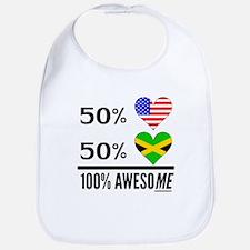 Half American Half Jamaican Bib