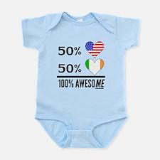 Half American Half Irish Body Suit