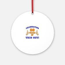 Celebrating 80th Birthday For Men Round Ornament