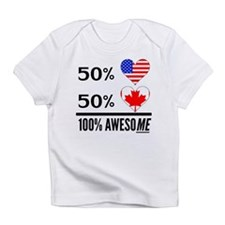 Half American Half Canadian Infant T-Shirt