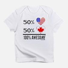 Half American Half Canadian Infant T-Shirt