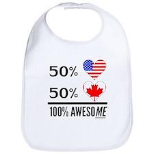 Half American Half Canadian Bib