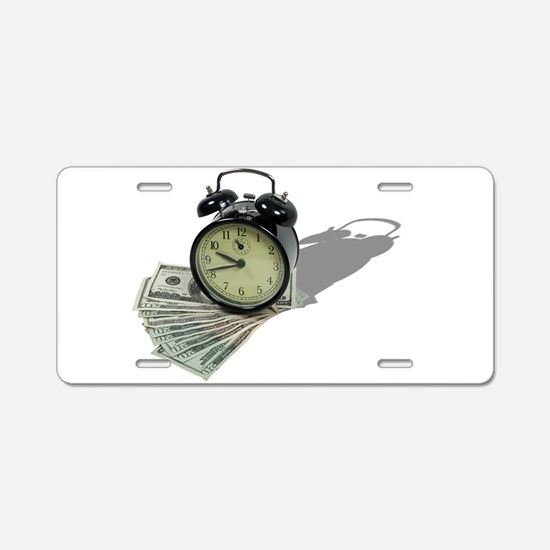 TimeIsMoney101610.png Aluminum License Plate