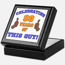 Celebrating 80th Birthday For Men Keepsake Box