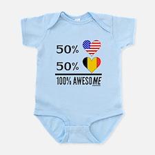 Half American Half Belgian Body Suit