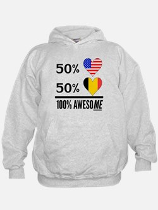 Half American Half Belgian Hoodie