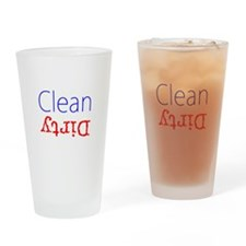 Clean Dirty Dishwasher Red Blue Bec Drinking Glass