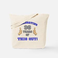 Celebrating 90th Birthday For Men Tote Bag