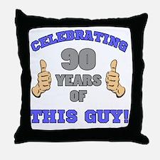 Celebrating 90th Birthday For Men Throw Pillow