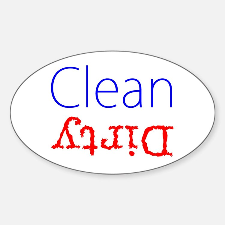 Clean Dirty Dishwasher Red Blue Becky's Fa Decal